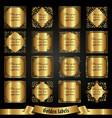set of golden labels in vintage style vector image