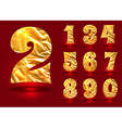 Set of numbers made foil vector image vector image