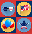 set of patriotic dedicated to the fourth of july vector image vector image