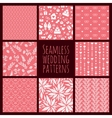 set seamless patterns for wedding decoration vector image vector image