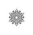snowflake hand drawn outline doodle icon vector image