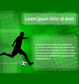 soccer player silhouette on abstract vector image vector image