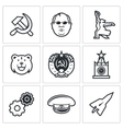 Soviet union icons vector image vector image