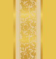 stylized gold tulips and vector image vector image