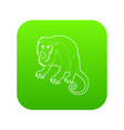 surprised monkey icon green vector image vector image