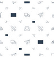 transportation icons pattern seamless white vector image vector image