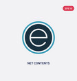 two color net contents icon from shapes concept vector image vector image