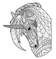 unicorn line coloring page coloring book vector image vector image