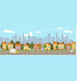 urban cityscape old town historical buildings vector image vector image