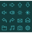 Volumetric Web Icon Collection vector image