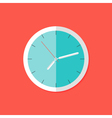 Watch Flat Icon over Red vector image vector image