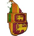 Sri Lanka map with flag inside vector image