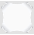 white scroll paper blank vector image