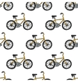 Hand drawn doodle cycling background vector image