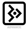 advance conceptual graphic icon vector image vector image