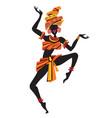 afro women dancing vector image vector image