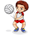 An Asian volleyball player vector image vector image