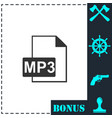 audio file icon flat vector image vector image