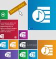 Audio MP3 fileicon sign Metro style buttons Modern vector image