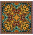authentic silk neck scarf or kerchief square vector image vector image