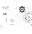 black and white abstract technology background vector image