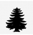 black silhouette of fir-tree clip art isolated on vector image