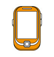 blank screen cellphone icon image vector image vector image