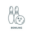 bowling line icon linear concept outline vector image vector image