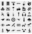 broadcasting technology icons set simple style vector image vector image
