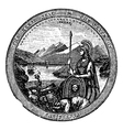 California Seal vintage engraving vector image vector image
