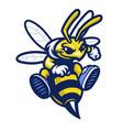 cartoon bee sport mascot vector image