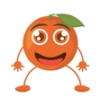 cartoon orange happy fruit vector image