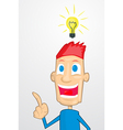 Cartoon with idea vector image vector image
