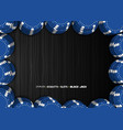 casino chips on a black background top view of vector image vector image