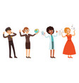 children various professions set police vector image vector image