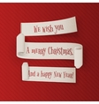 Christmas and New Year realistic Ribbons Set vector image vector image
