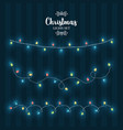 christmas lights decoration collection isolated vector image