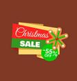 christmas sale 55 percent gingerbread snowflake vector image vector image