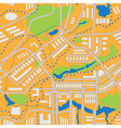 City map seamless pattern vector image vector image