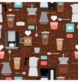 Coffee shop seamless pattern vector image vector image
