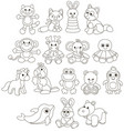 collection of funny toy animals vector image