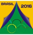 Colors of flag Brazil and sign of Olympics with vector image vector image