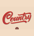 country music volumetric hand drawn vector image vector image