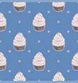 cupcakes polka dots vector image