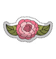 cute rose drawing icon vector image vector image