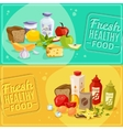 Daily meal banners vector image