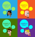 Different people thinking with speech bubbles vector image
