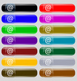E-Mail icon sign Set from fourteen multi-colored vector image