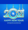 elite card happy new year 2021 luxury alphabet vector image vector image