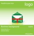envelope mail business background vector image